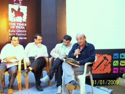 Varjesh, Sachin, Sanjeev and Dilipbhai at Kala Ghoda 2009