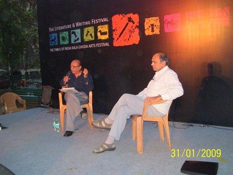 Dr GN Devy and Dr Dilip Jhaveri at Kala Ghoda Festival 2009