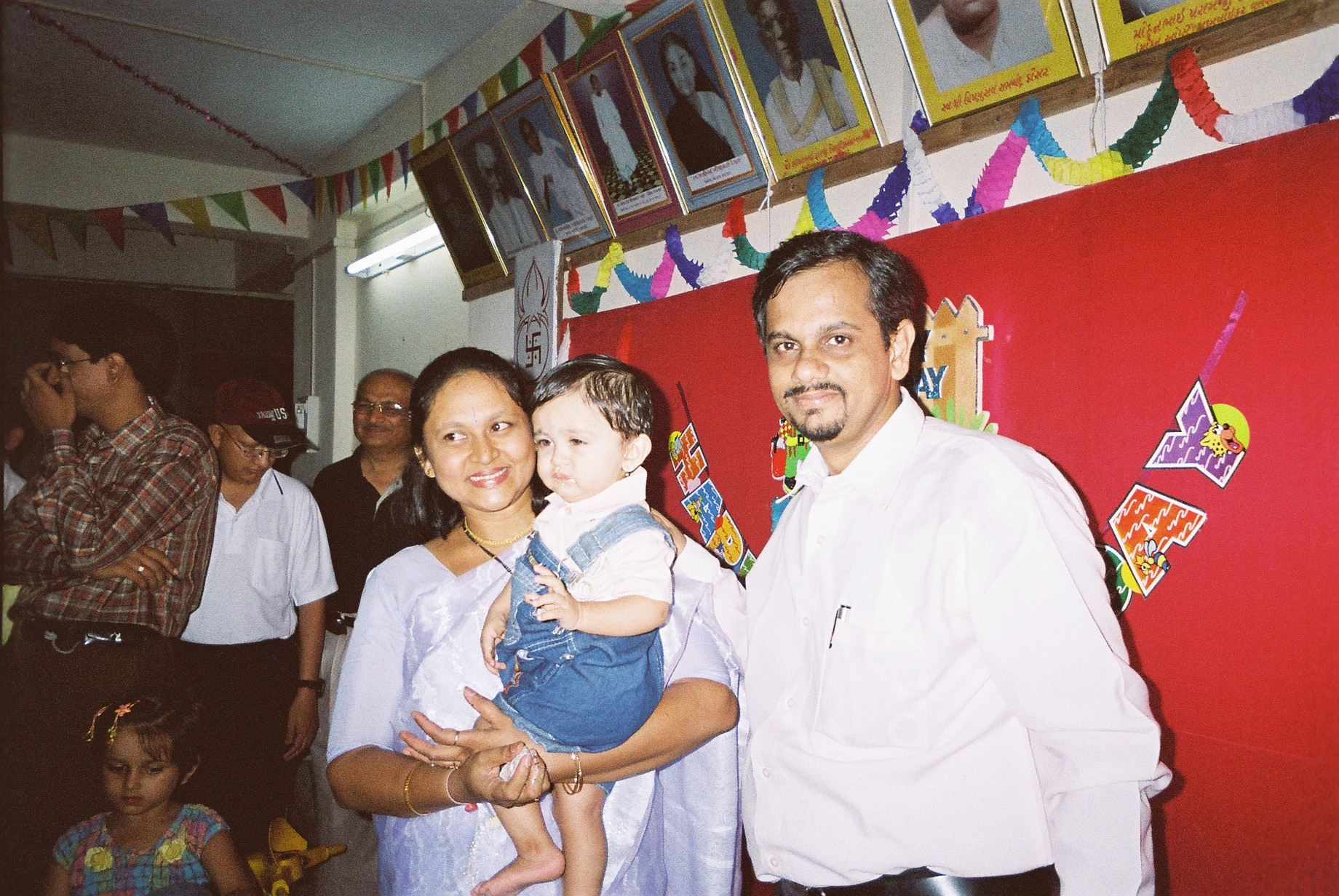 Amogh and his Parents First Birthday party