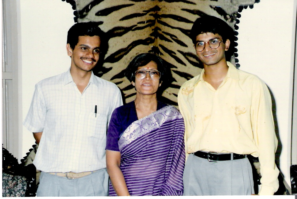 With Bhavin and Prof Vanikar in 1995